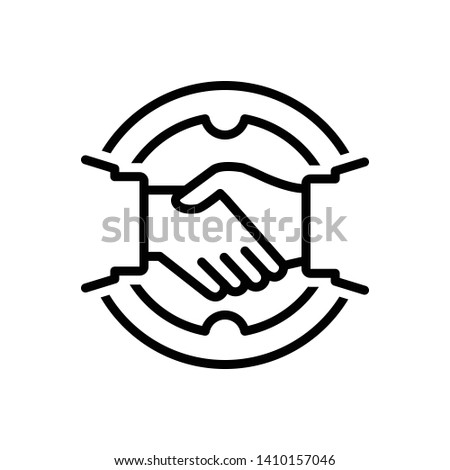 Vector black icon for deal Stock photo ©