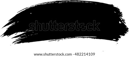 vector black line, grunge brush strokes ink paint isolated on white background
