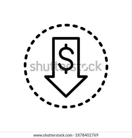 Vector black line icon for cheaper Stockfoto ©