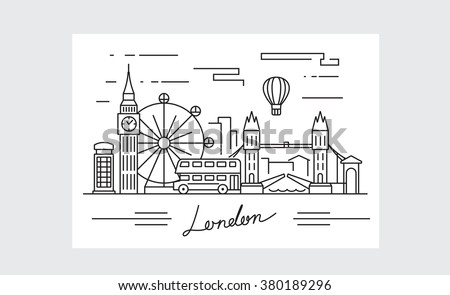 vector black london icon on