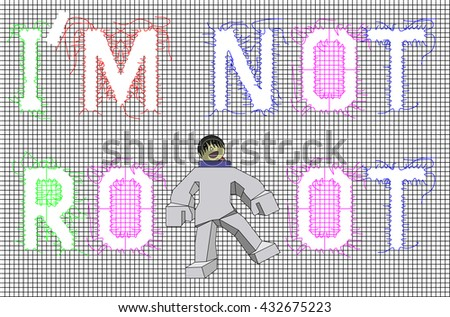 vector black mesh with word i