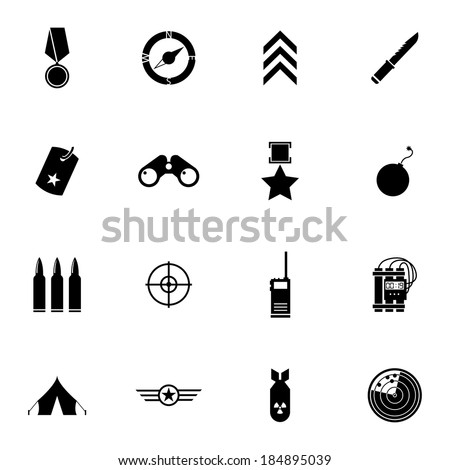 vector black  military icons
