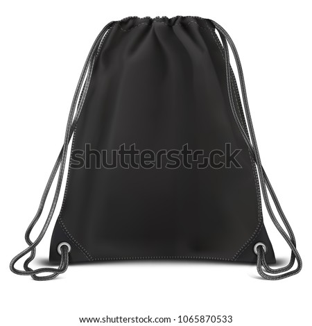 Vector Black Mock up Backpack bag