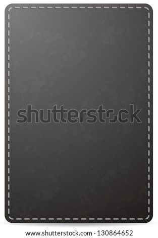 Vector black notebook cover page with leather texture, isolated on white background