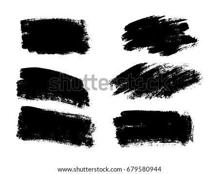 vector black paint  ink brush