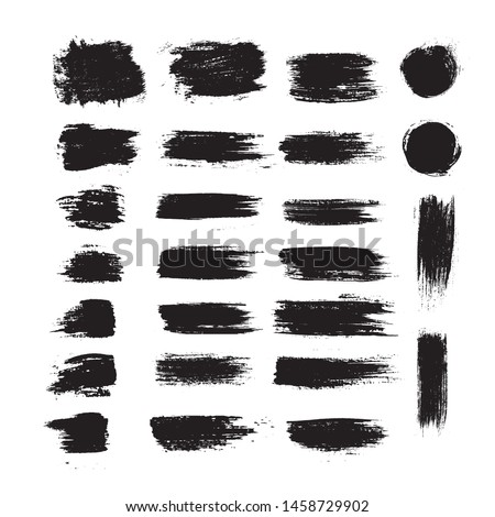 Vector black paint ink brush. stroke,line,texture,