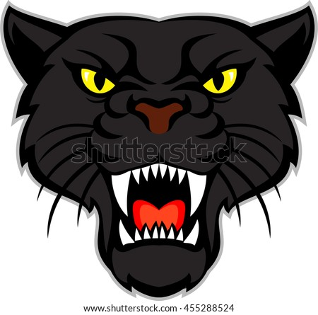 vector  black panther head