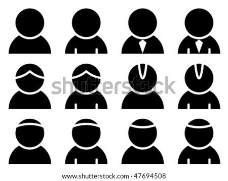 vector black person icons