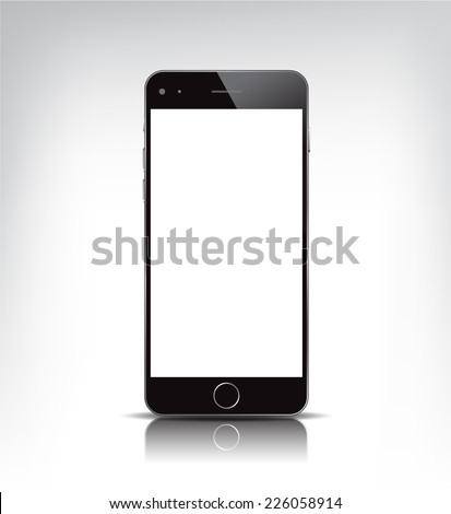 vector black realistic phone