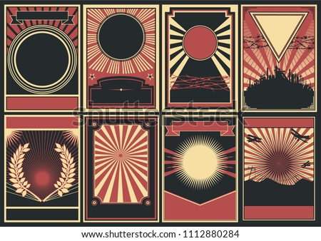 Vector Black Red White Background Poster Style  Stock photo ©