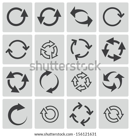 Vector black refresh icons set #156121631