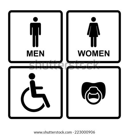 Restroom Symbols Vector Vector Black Restroom