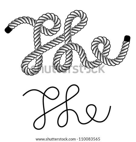 Rope Logo Vector Vector Black Rope The Vintage