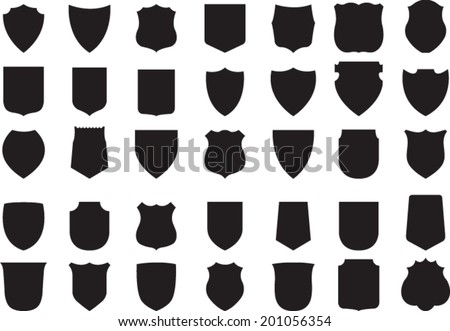 stock-vector-vector-black-shields-set-shields
