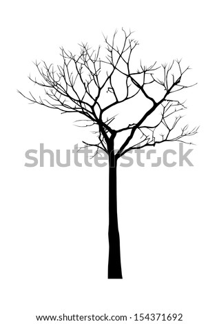 vector black silhouette of a