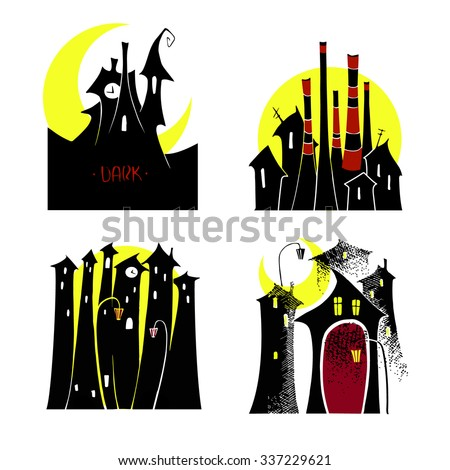 vector black silhouette of