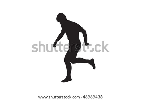 football players running. of running football player