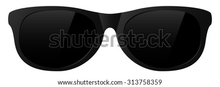 vector black sunglasses with the light shine
