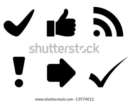 vector black symbols - stock vector
