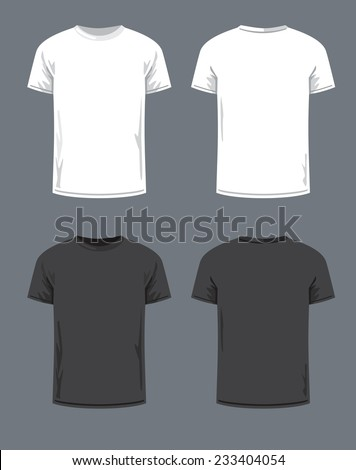 vector black T-shirt icon on gray background