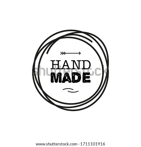 Vector black tags and badges with words and phrases on white background. Hand made. Perfect for your business. Vector illustration. Photo stock ©