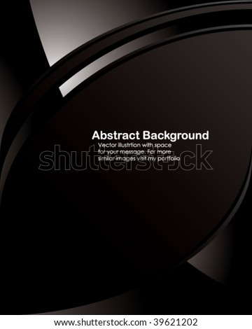Vector. Black tech background with space for your message.