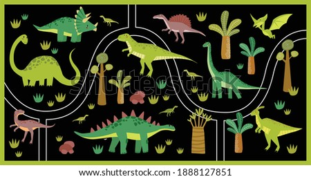 vector black tropical maze with