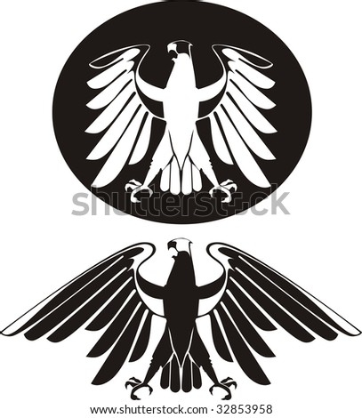 vector black   white eagle