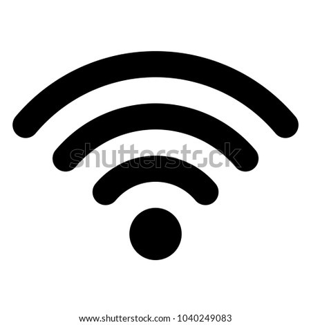 Vector black wireless icon