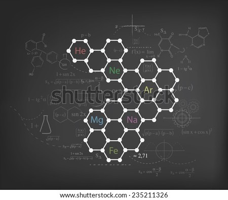 vector blackboard and chemistry