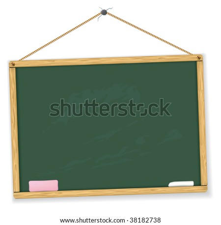 Vector blackboard. Highly detailed. Easy to edit. Education vector collection.