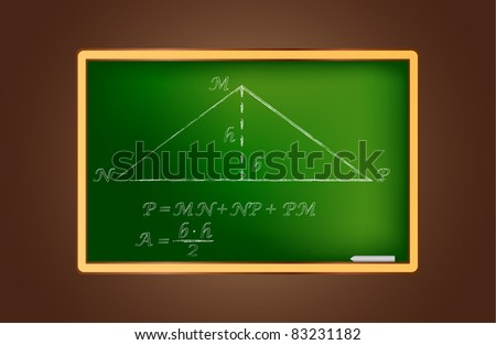 vector blackboard with geometric illustration
