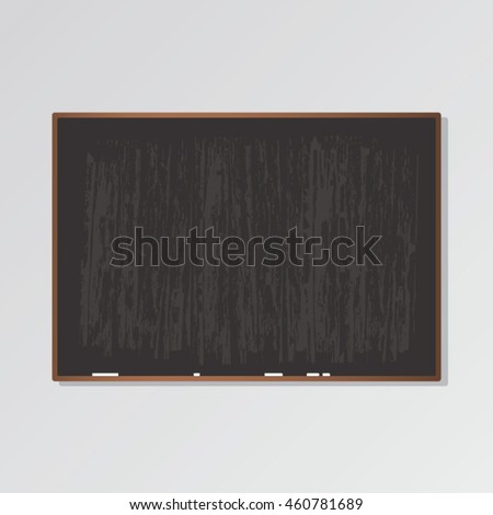 Vector blackboard with wet black texture and chalks #460781689