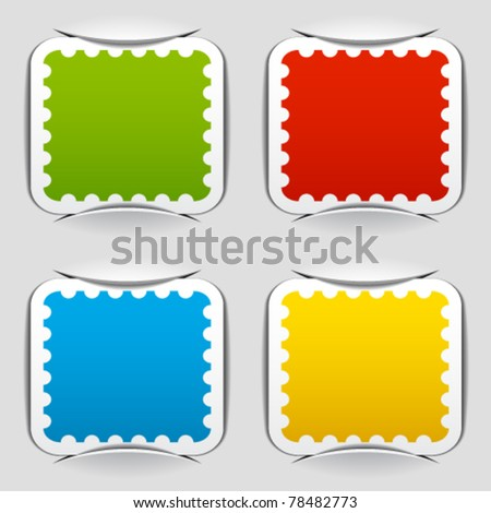 vector blank attached postage papers