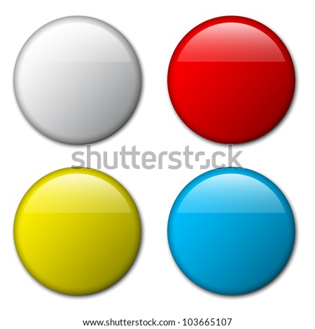 Vector blank badge template illustration - four colors