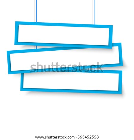 vector blank blue 3 line wonky