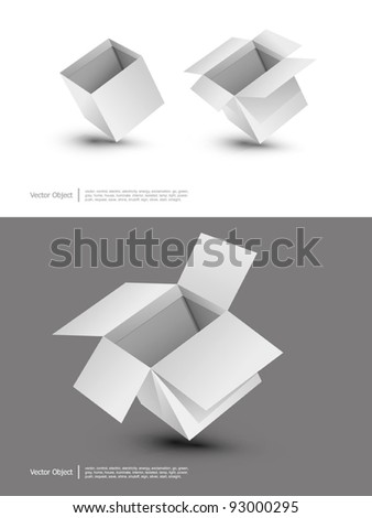 vector Blank cardboard boxes on a white background