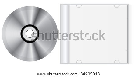 Vector blank cd box and disc