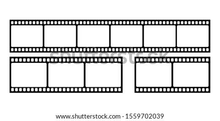 Vector blank cinema film strip.