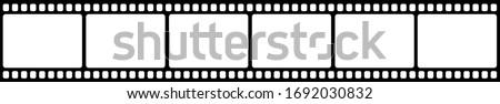 Vector blank cinema film strip. Stockfoto ©