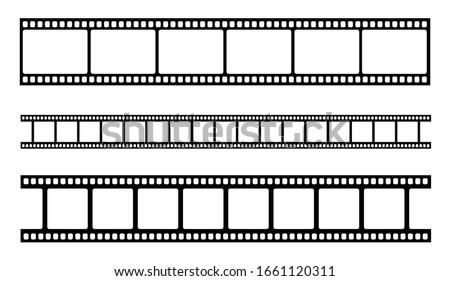 Vector blank cinema film strip. Vector illustration Photo stock ©