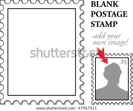 vector blank classic postage stamp graphic illustration - add your own image!