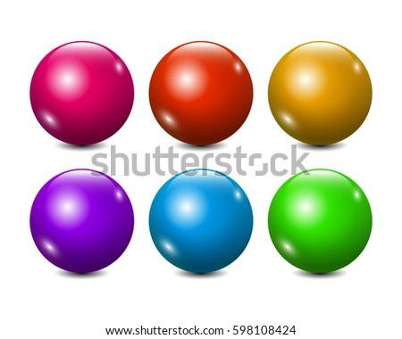 vector blank colorful balls set