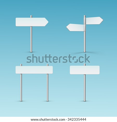 Vector Blank Direction Signpost Sign Arrow Icon Isolated on Background #342335444