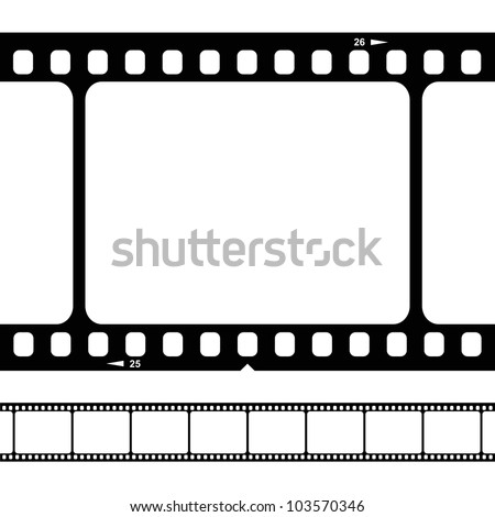 vector blank film strip - stock vector