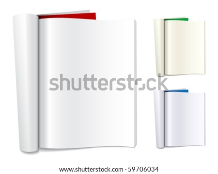 vector blank folded magazines - stock vector