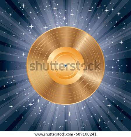 vector blank golden lp vinyl