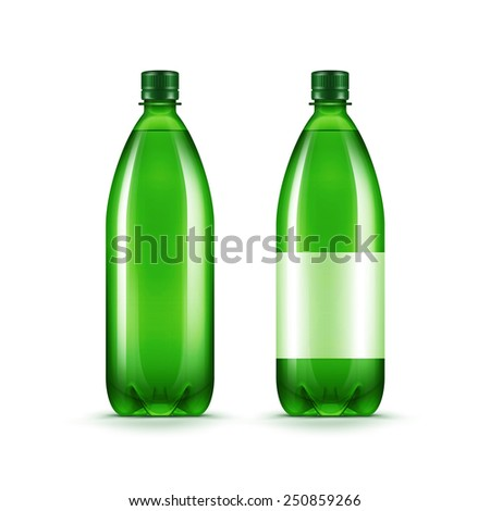 vector blank green plastic