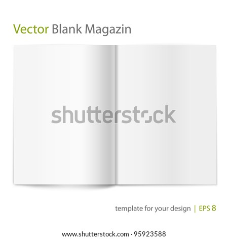 Vector blank magazine on white background. Template for design stock photo