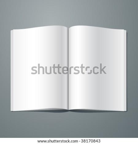 Vector blank magazine spread. Editable. No mesh.